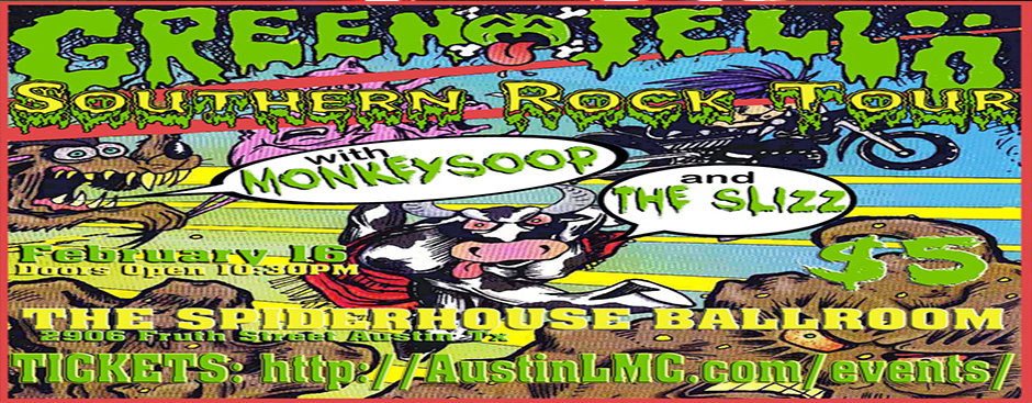 Aundroma to open for Green Jelly at Spiderhouse Ballroom!