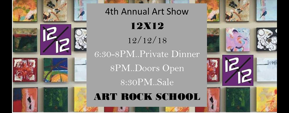 4th Annual 12X12 Art Show and Sale