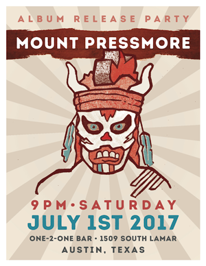 "Mount Pressmore Releases Their Sophomore Album ""The Masked Battle"" at One-2-One Bar in Austin, Texas"