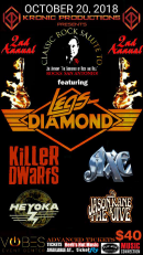 "2nd Annual  Salute To ""The Godfather"" Joe Anthony with Legs Diamond, Killer Dwarfs, Axe, Heyoka"