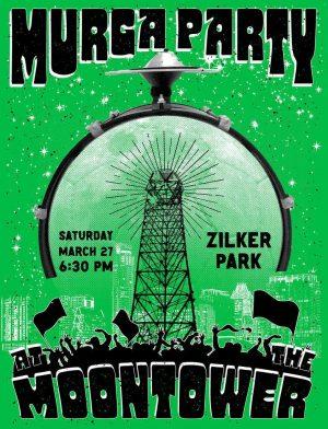 La Murga de Austin's Song and Chant Practice at the Zilker Park Moontower