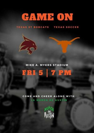 La Murga de Austin Plays at the Texas Soccer vs. Texas State Game
